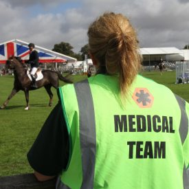 Acos Medical staff look on at Royal Berks Show
